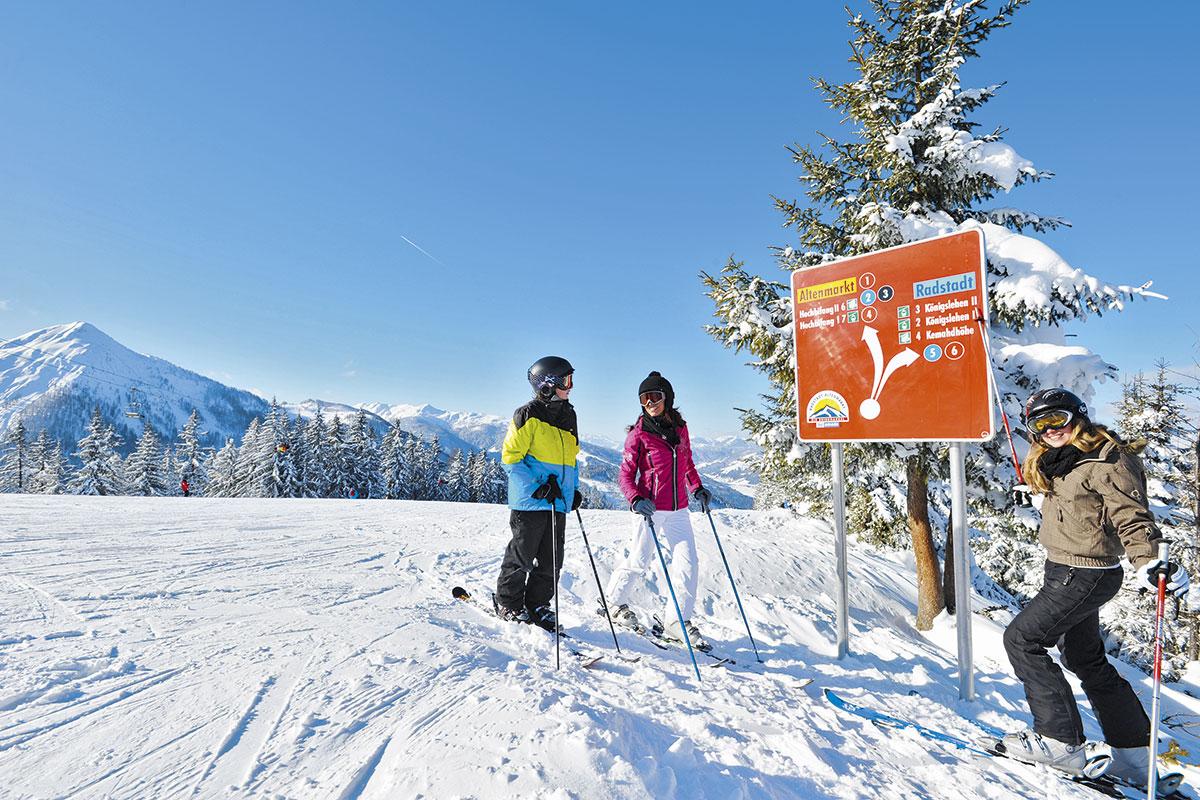 Skifahren und Snowboarden im Skigebiet Radstadt - Altenmarkt - Meierlgut